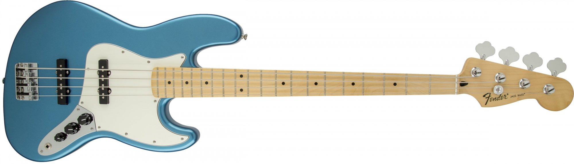 Fender Standard Jazz Bass Guitar Maple Fretboard - Lake Placid Blue