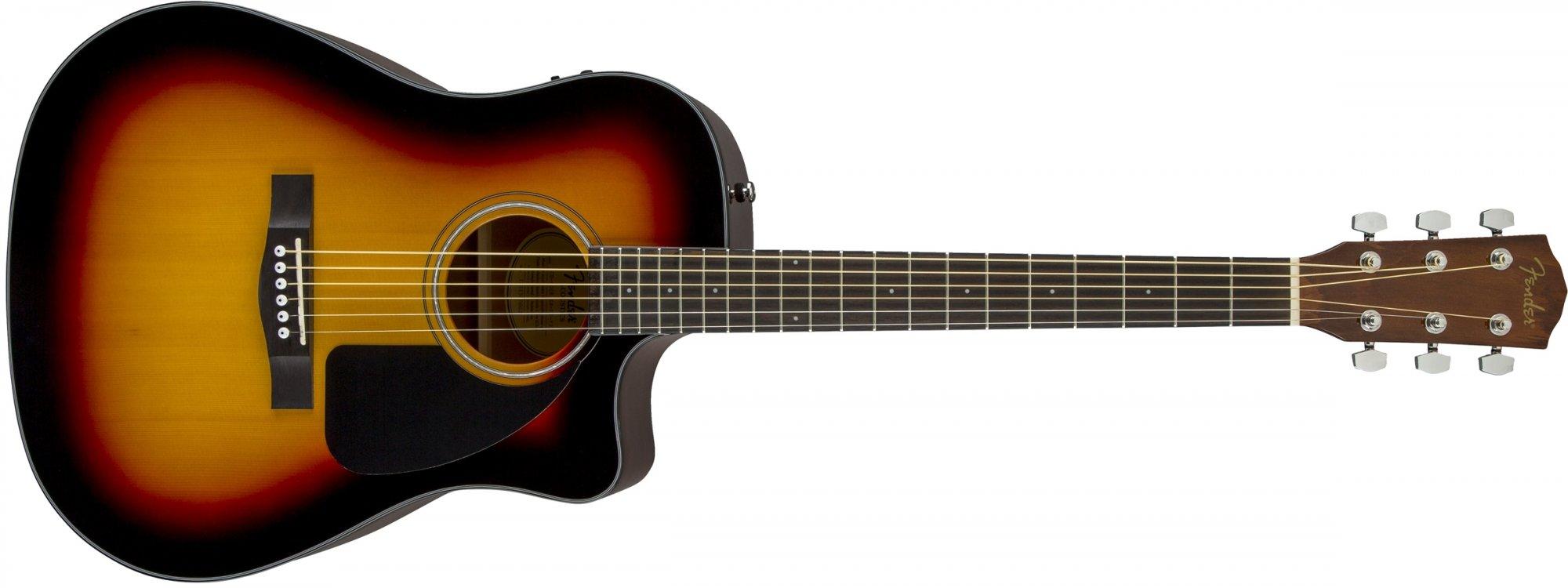 Fender CD60CE Cutaway Dreadnought Acoustic-Electric Guitar - Sunburst