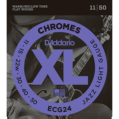 D'Addario ECG24 Chromes Flatwound Jazz Light Electric Strings
