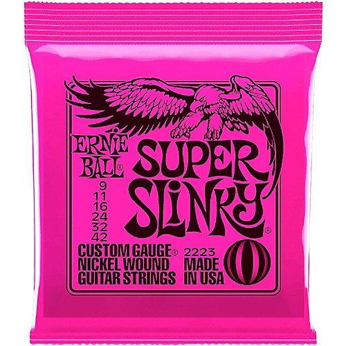 Ernie Ball 2223 Nickel Super Slinky Custom Gauge Electric Guitar Strings