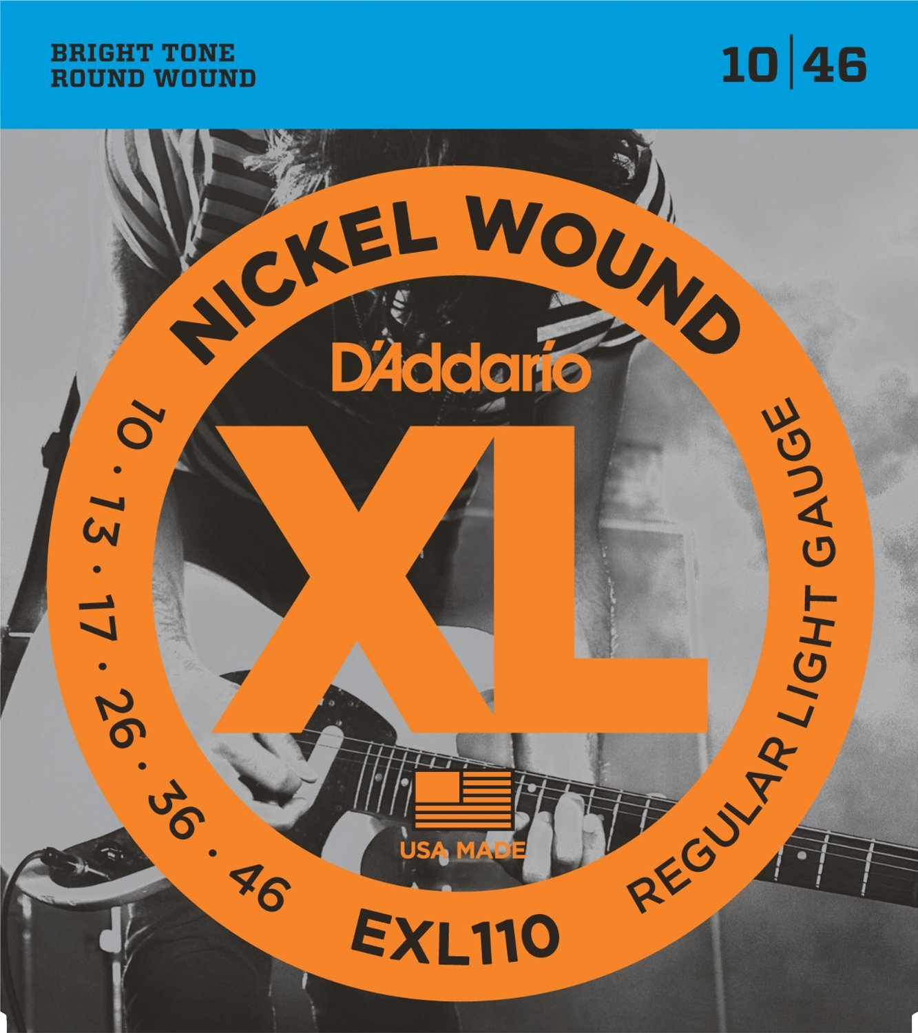 D'Addario EXL110 Nickel Wound Light Electric Guitar Strings