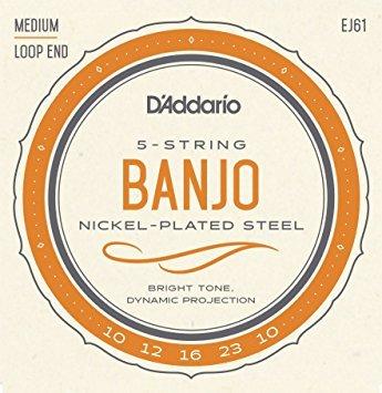 D'Addario EJ61 Nickel 5-String Medium Banjo Strings