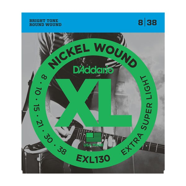 D'Addario EXL130 Nickel Wound Extra Super Light Electric Strings