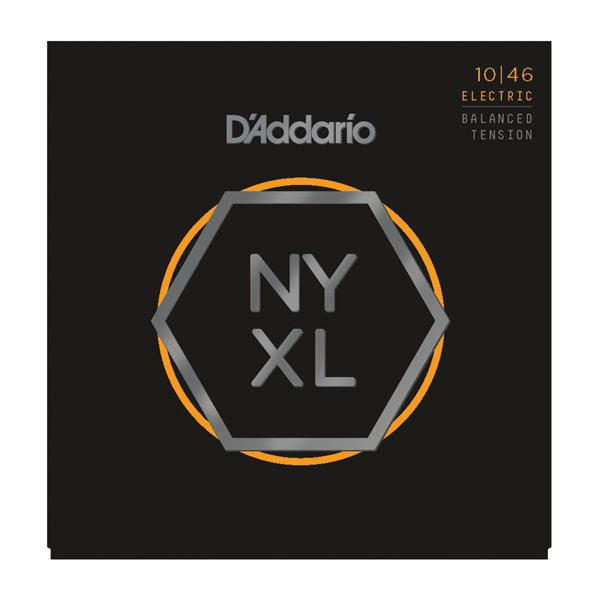 D'Addario NYXL1046 Nickel Wound Light Electric Guitar Strings 10-46