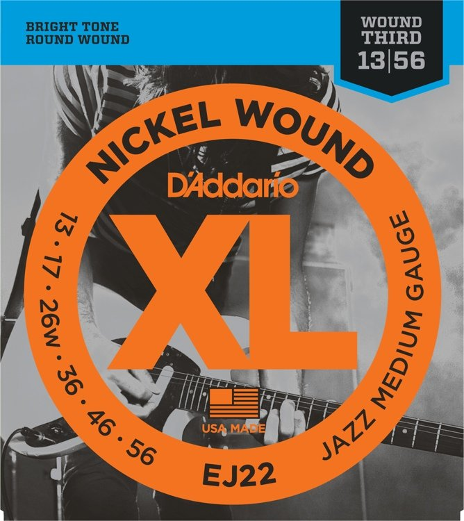 D'Addario EJ22 Nickel Wound Jazz Medium Electric Strings (wound 3rd)