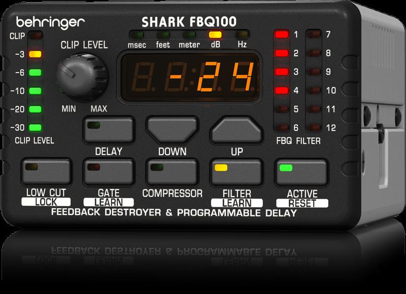 Behringer Shark FBQ100 Automatic Feedback Destroyer / Mic Preamp