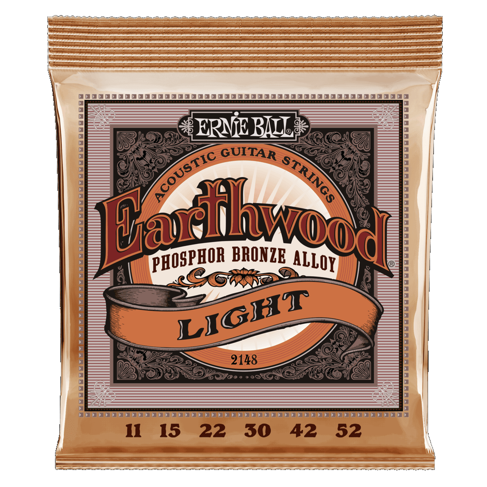 Ernie Ball 2148 Earthwood 11-52 Light Phosphor Bronze Acoustic Strings