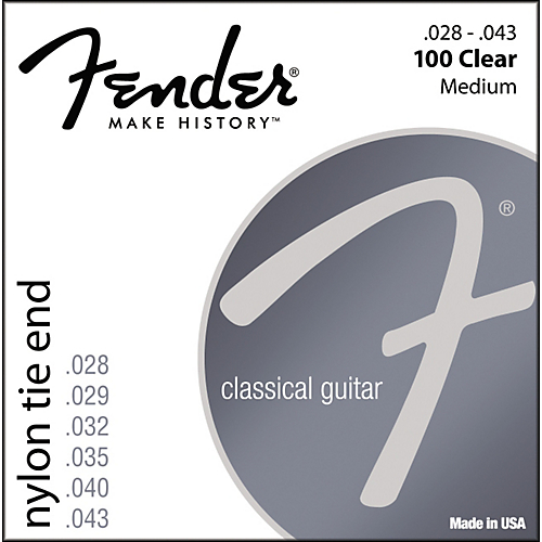 Fender 100 Clear/Silver Nylon Classical Guitar Strings / Tie End
