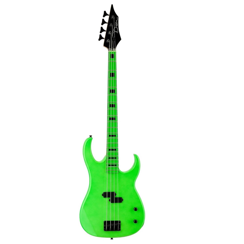 Dean Custom Zone 4-String Bass Guitar - Nuclear Green
