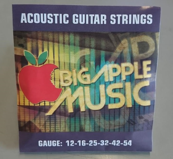 Big Apple Music Light Acoustic Guitar Strings 12-54