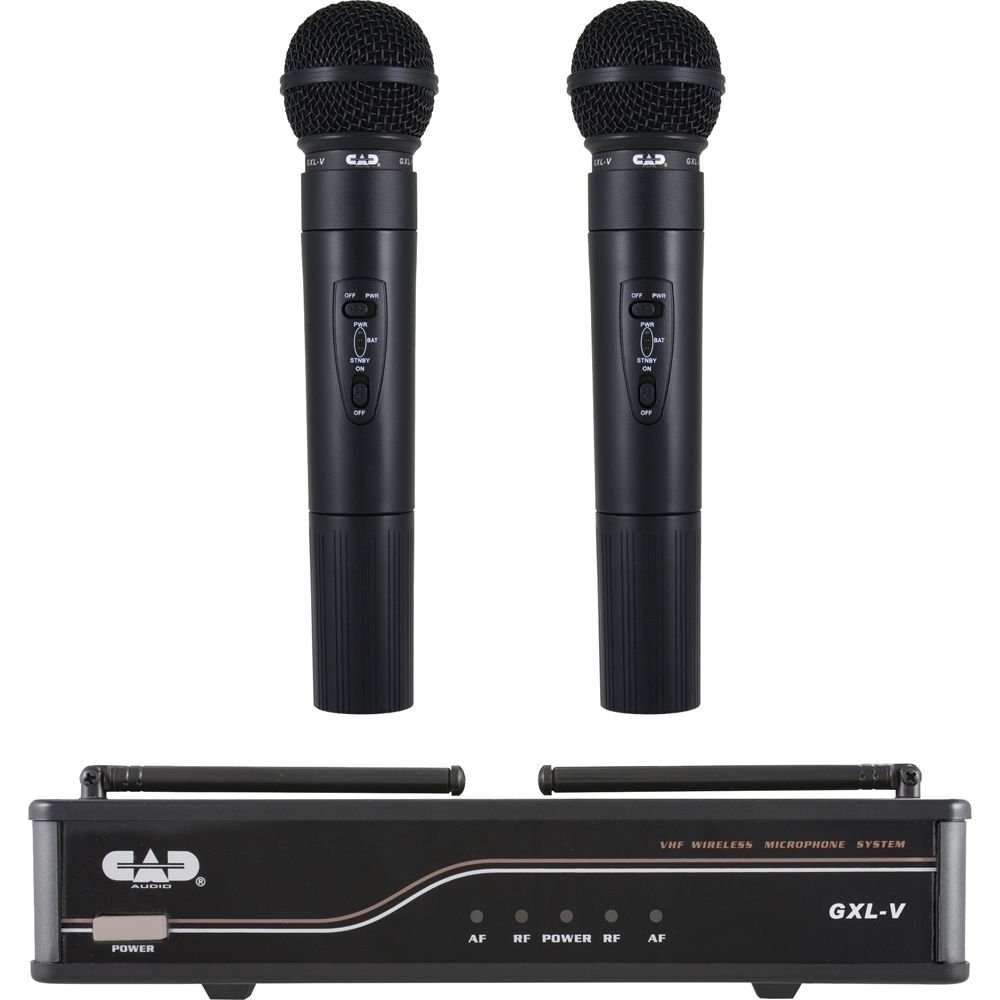 CAD GXLVHH VHF Dual Channel Handheld Wireless Microphone System