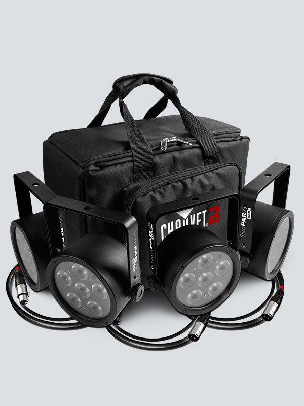 Chauvet SlimPACK T6 USB 4-Pack LED Light Package