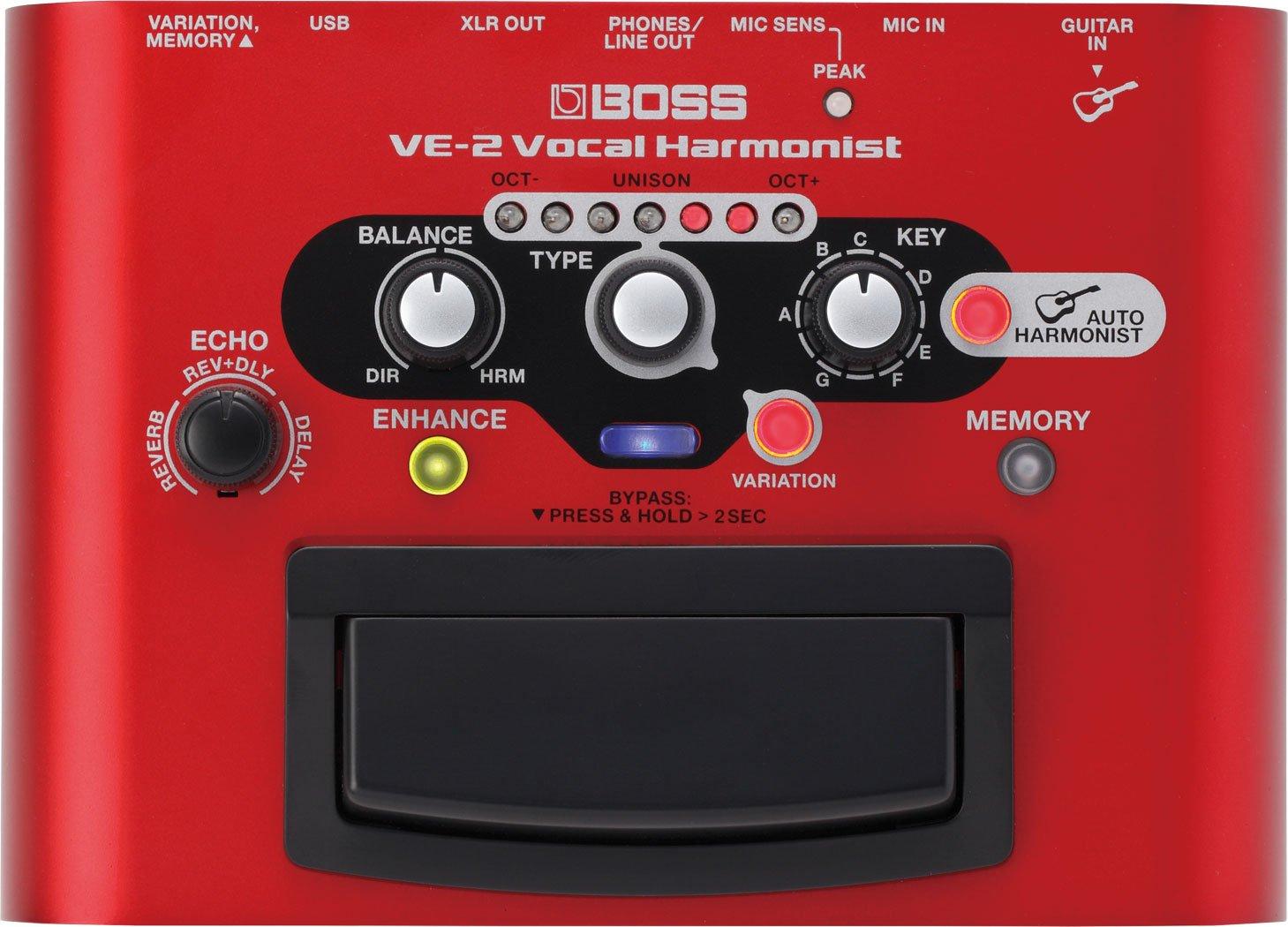 Boss VE-2 Portable Vocal Processor Pedal