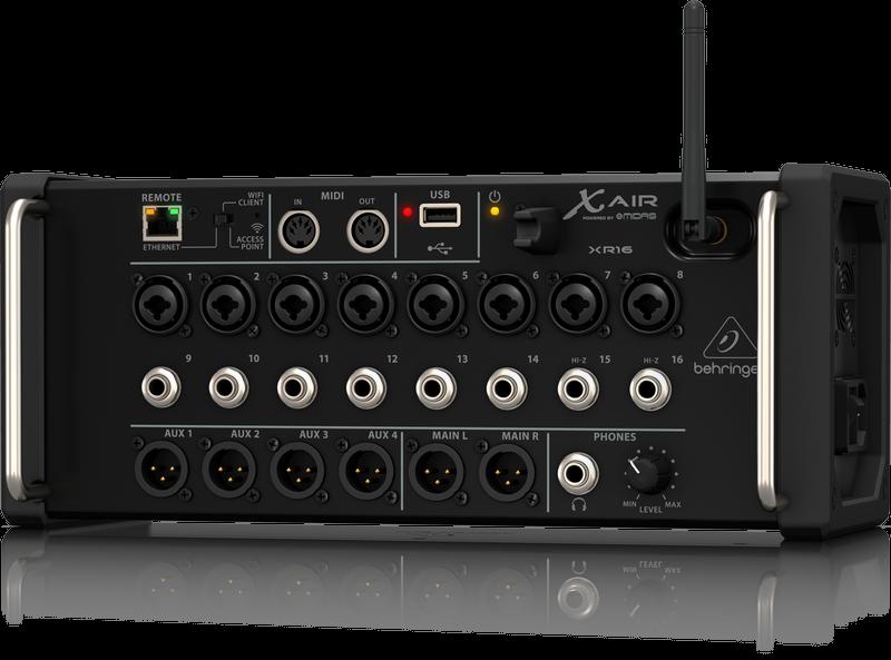 Behringer X Air XR16 Tablet Controlled Digital Rackmount Mixer
