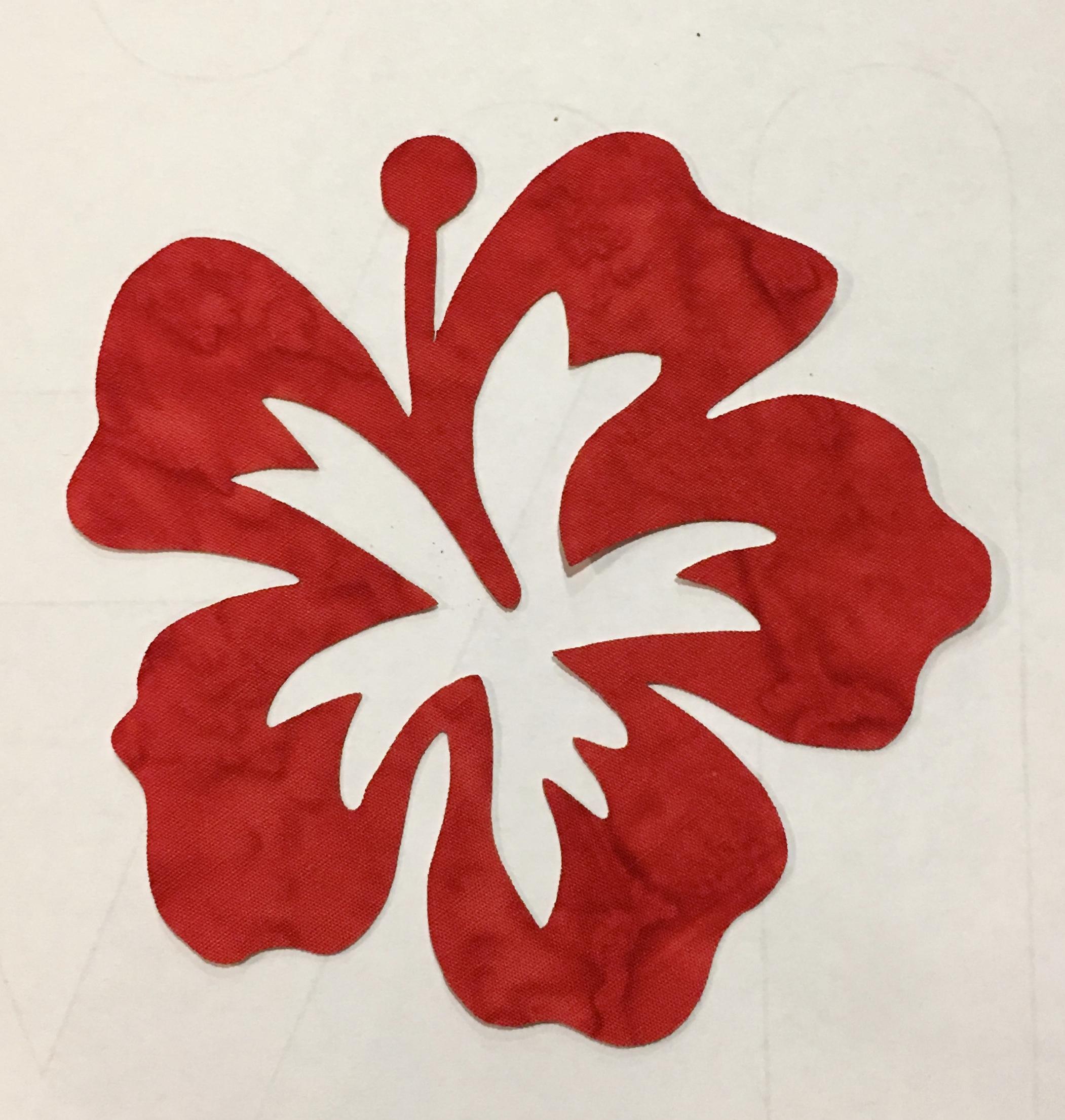 5in. Hibiscus Appliques