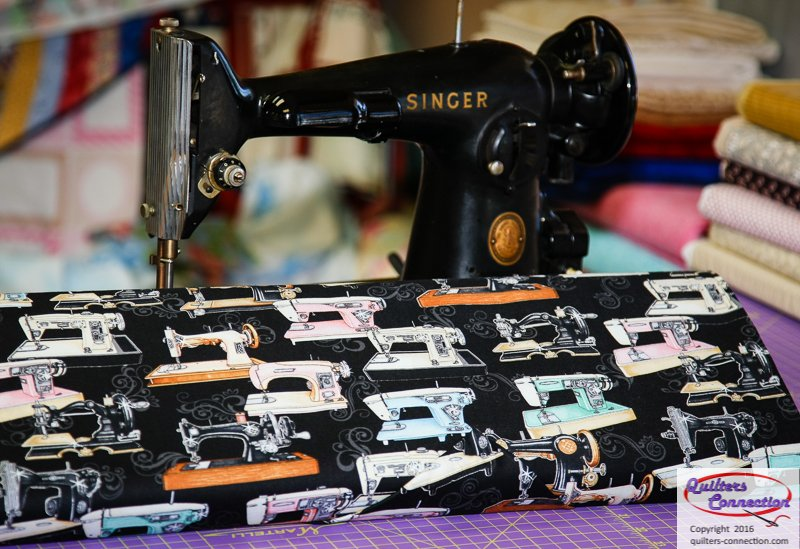vintage sewing machine fabric