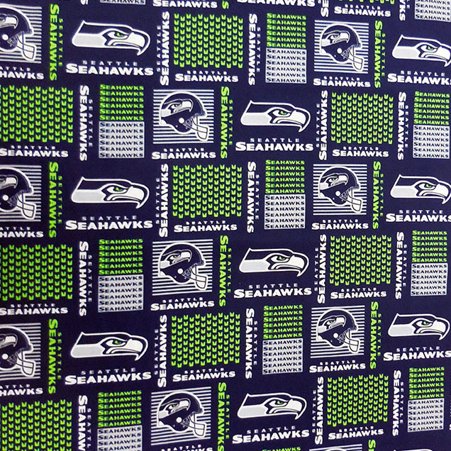 Seahawks Cotton Grid Blue/Green