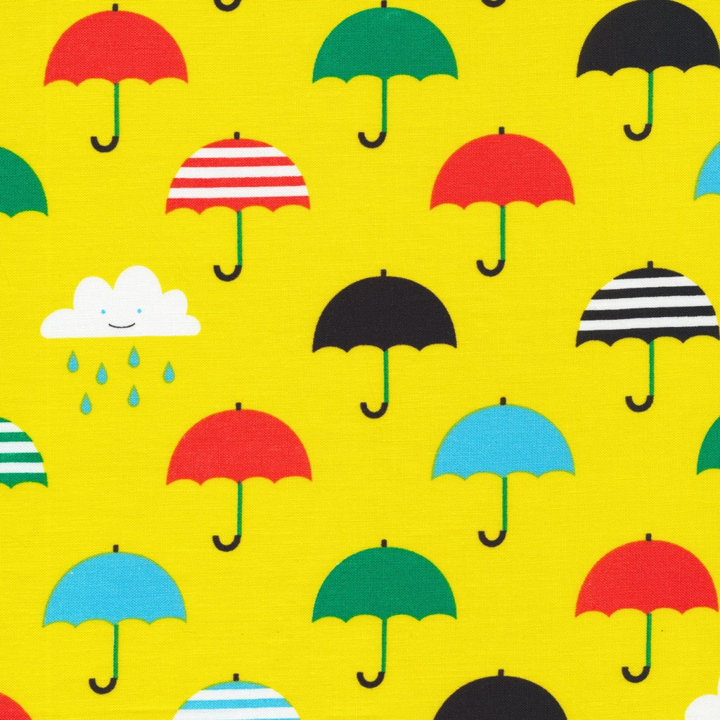 Laminate Singin' in the Rain Umbrellas Yellow