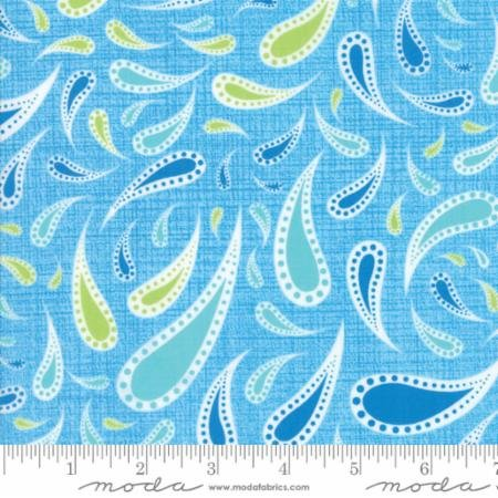 Rainy Day Raindrop Paisley Light Blue - Me and My Sisters Design for Moda