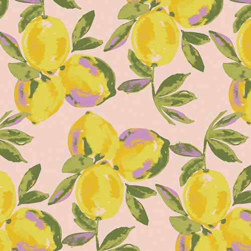 Yuma Lemons Glare from Sage - Bari J. for Art Gallery Fabric