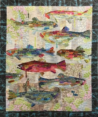 Go Fish Painterly Collage