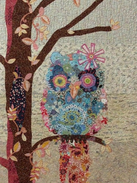 Cora Common Owl Collage Quilt Pattern By Laura Heine