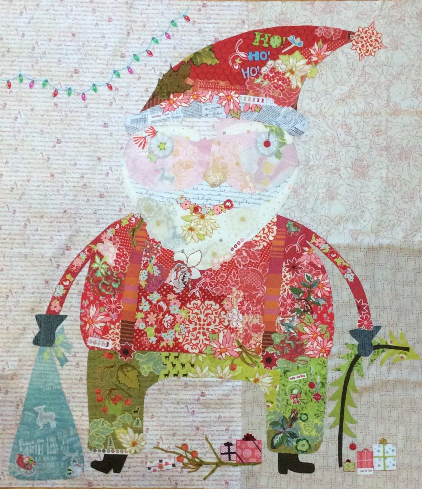 Nick Santa Collage Kit by Laura Heine