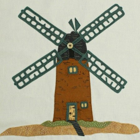Norfolk Windmill e-Pattern, Block 2 of Briarside Lane