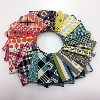 20 pc Plaid, Stripe and Dot Fat Quarter Bundle