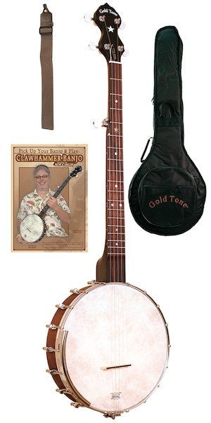 Gold Tone CC-OT Cripple Creek 5-String Banjo Clawhammer Package