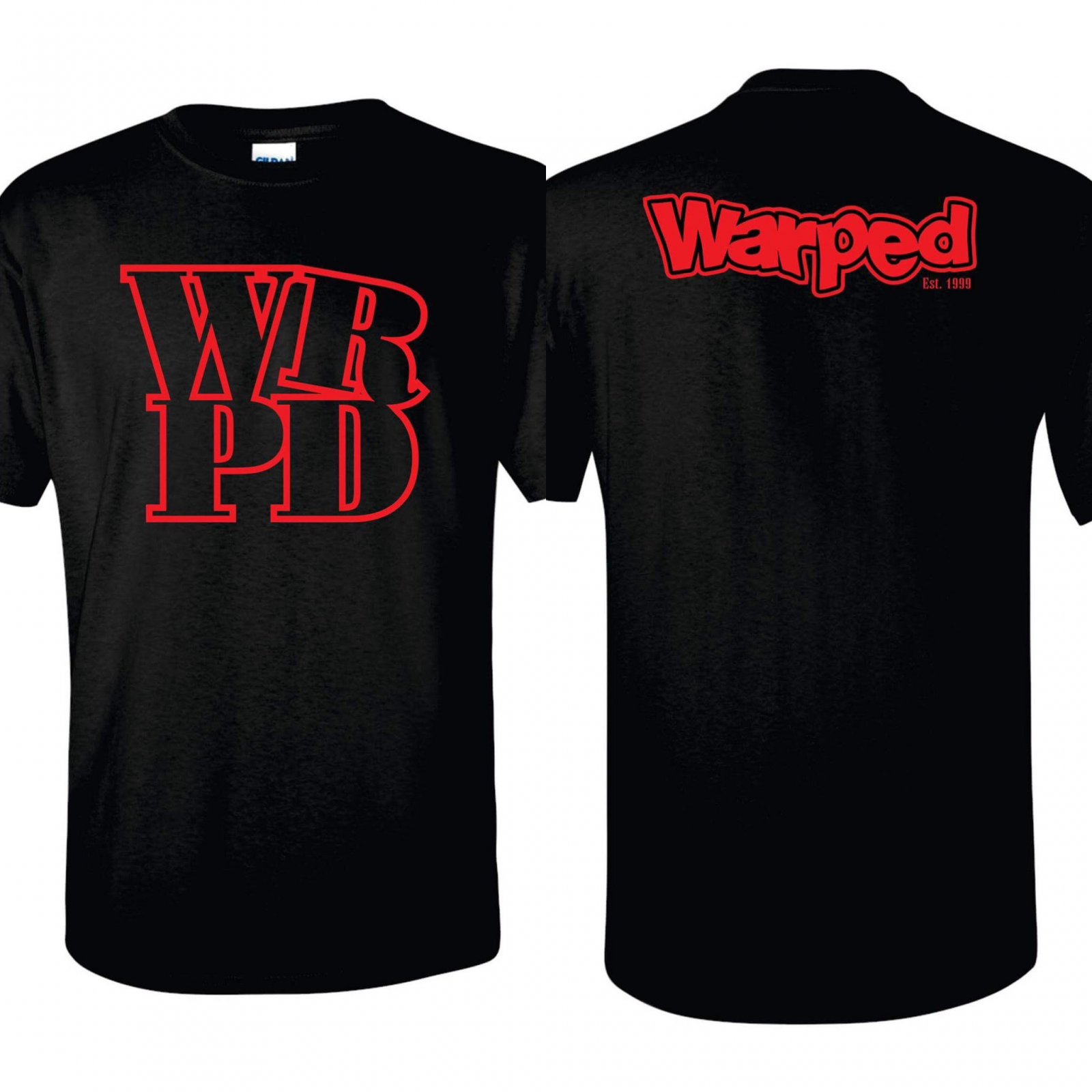 Warped WRPD T Shirt (Black)