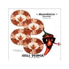 MOONDANCE PLACEMAT KIT. PATTERN TOP AND BINDING 4 MATS