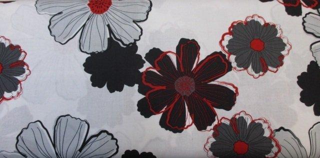 CHERRY POP  BLACK /GREY / RED ON WHITE
