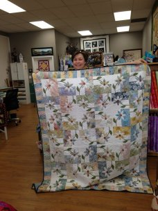 Irene Laird and her fabulous quilt!