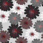 CHERRY POP  BLACK /GREY / RED ON GREY