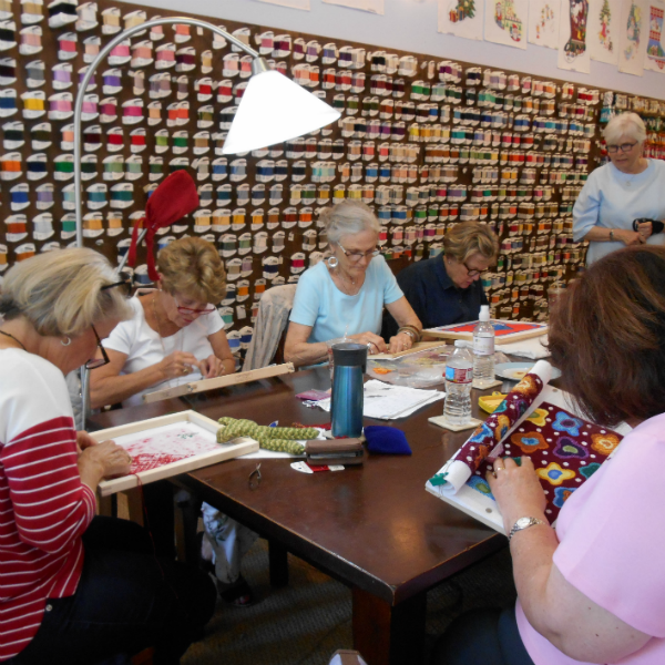 Friday Stitchers at Old World Designs
