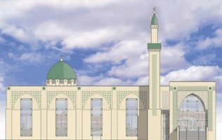 Fabric at Work Quebec Mosque Quilt Block