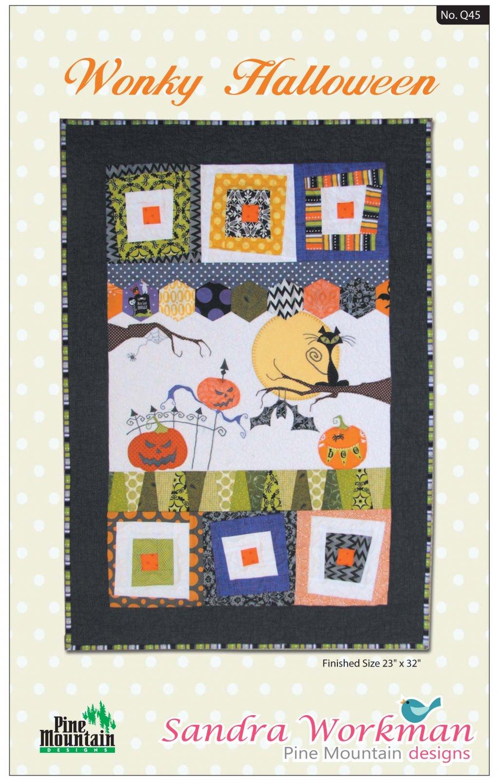Q45 Wonky Halloween Wall Quilt