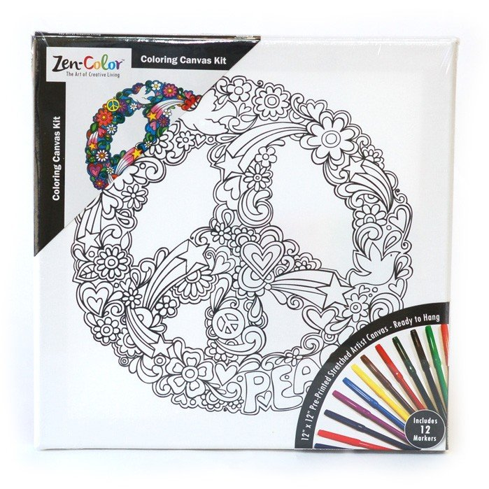zen color coloring canvas kits