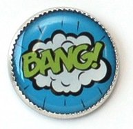 skacel Buttons - Picture Comic; Round 18 mm shank