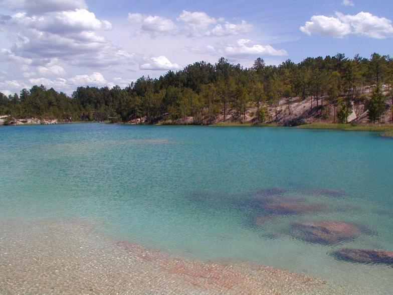 Yes, this is in Texas! The Blue Lagoon near Huntsville.