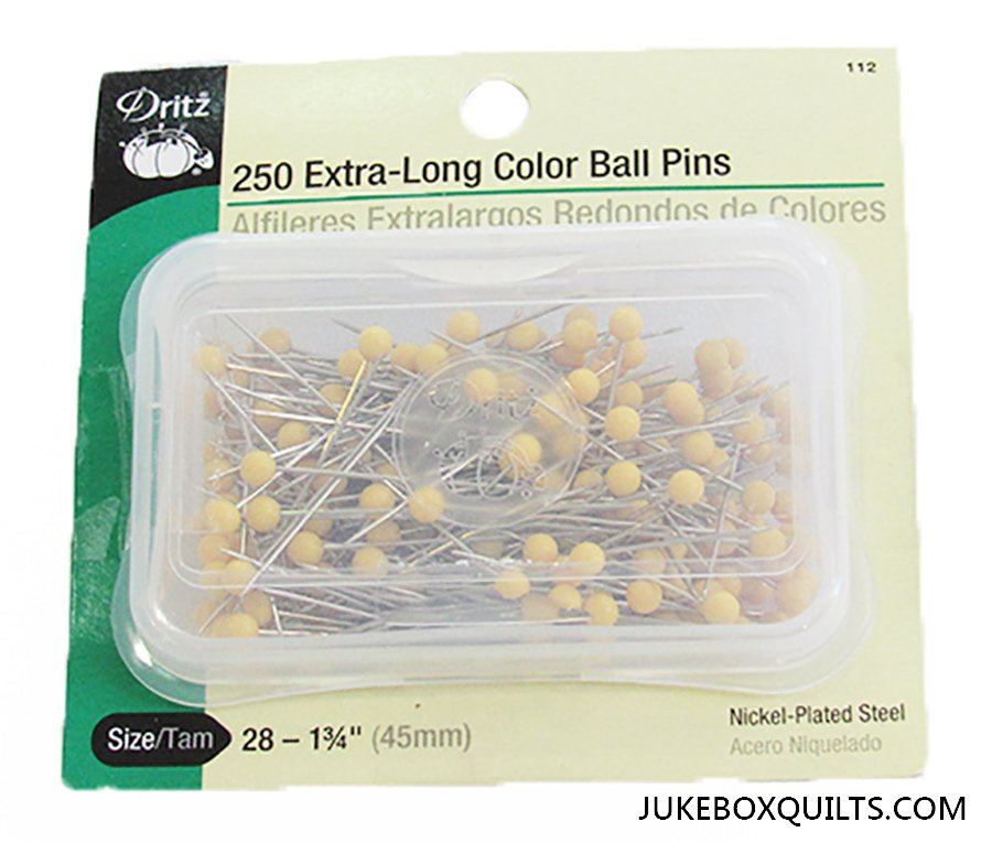 250 Extra Long Color Ball Pins