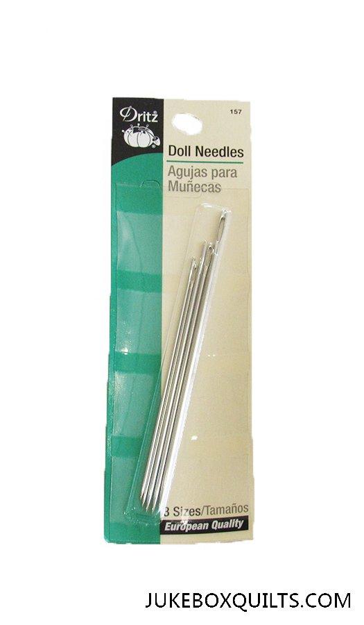 Doll Needles Dritz 3 sizes