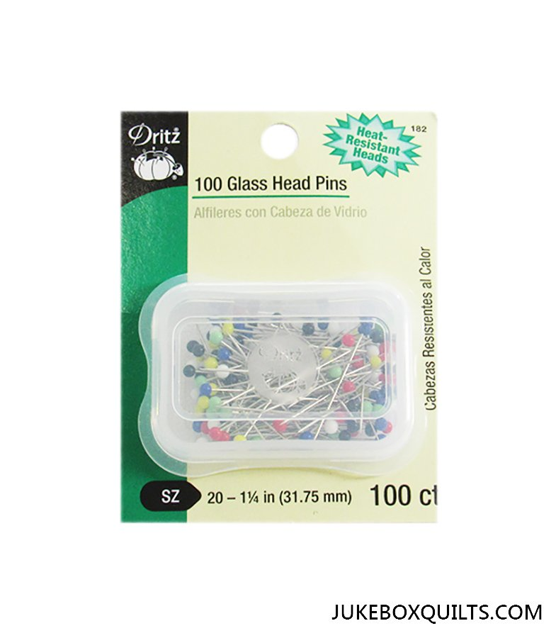 Pin Glass Head Sz 20 100 Ct