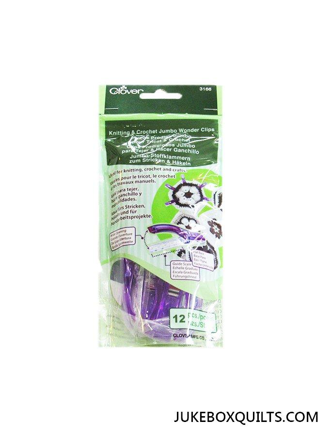 Wonder Clips Jumbo Purple 12Ct
