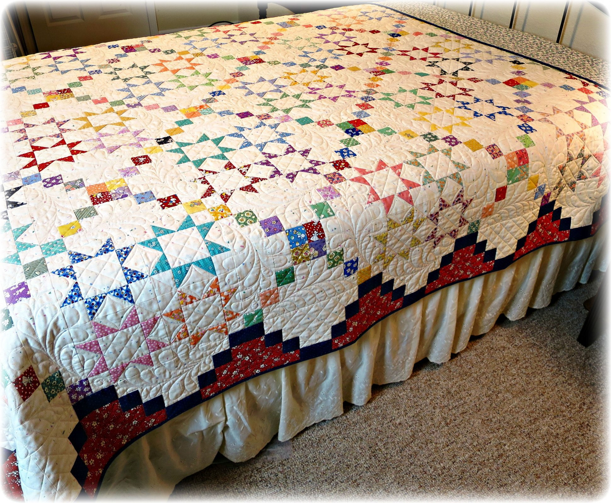 #449 Lucky Stars Quilt Paper Pattern