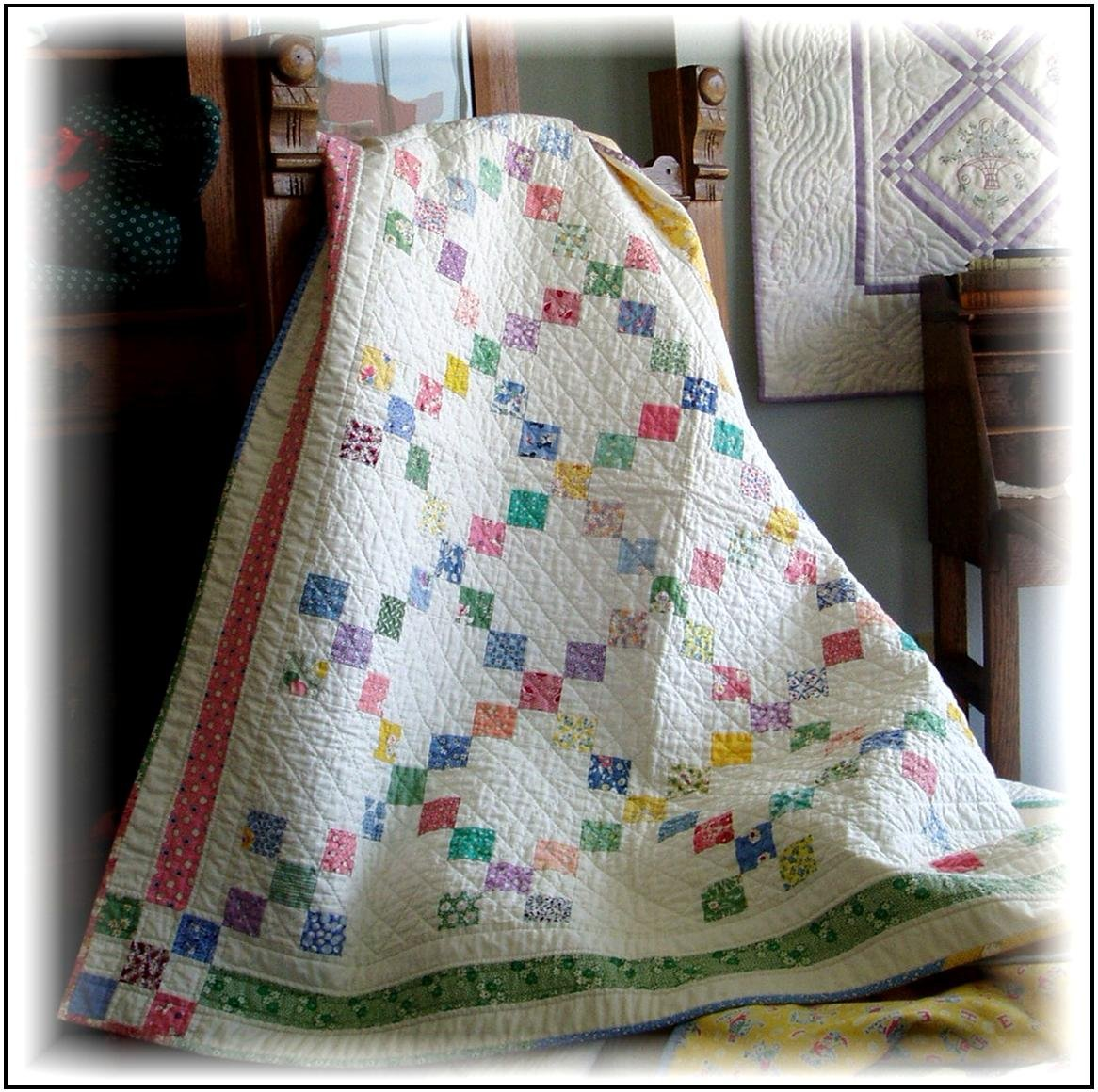 #405 9-Patch Quilt & Tablecloth Pattern - Paper Pattern