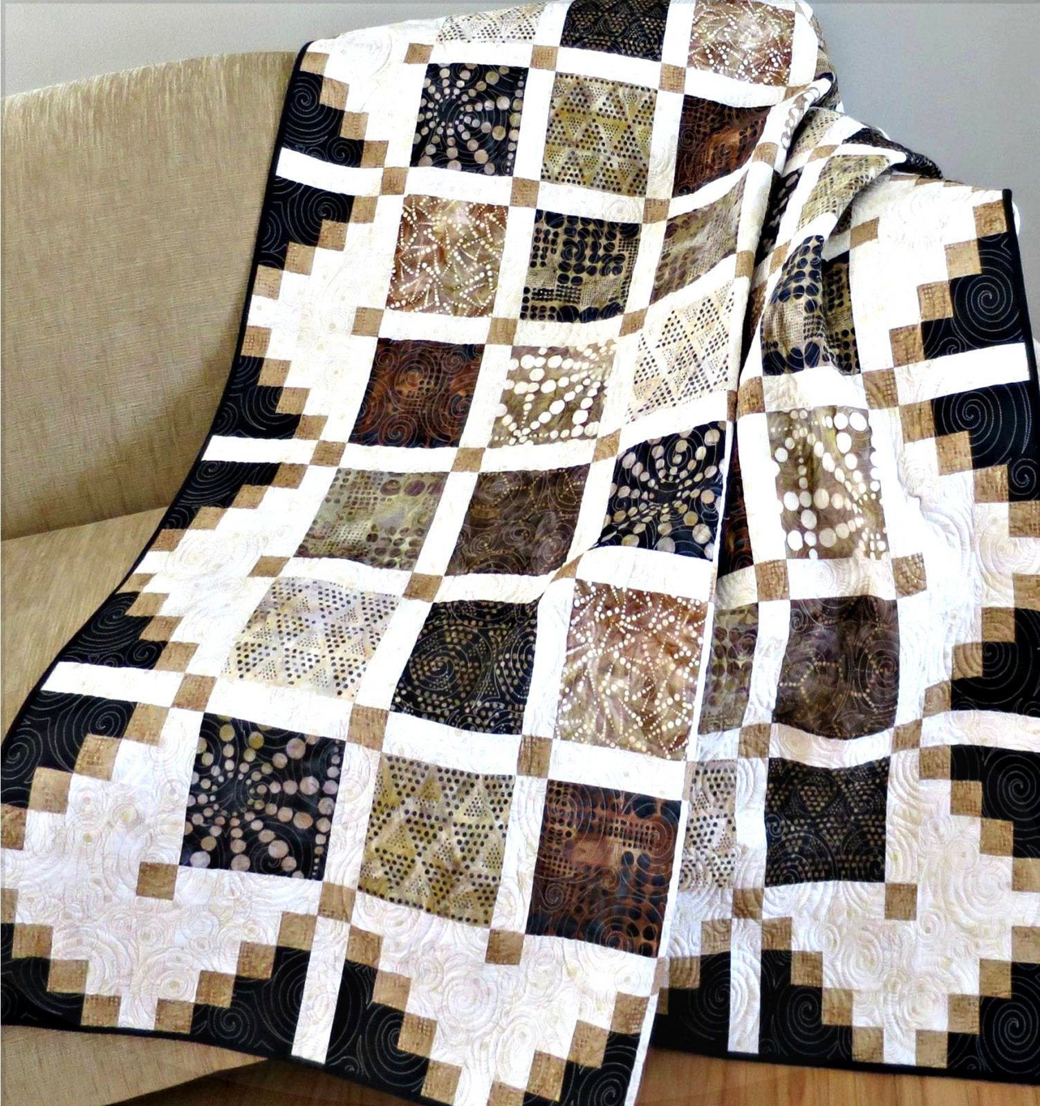 #444 Simply Cool Quilt Pattern  - Paper Pattern