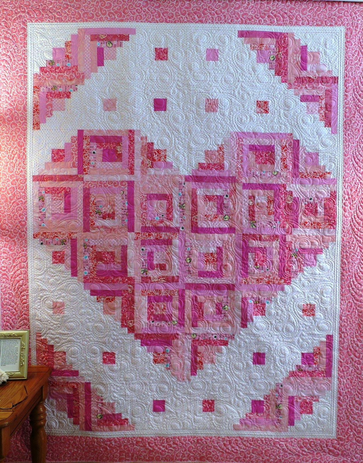 #441 Loving Heart Quilt Pattern  - Paper Pattern