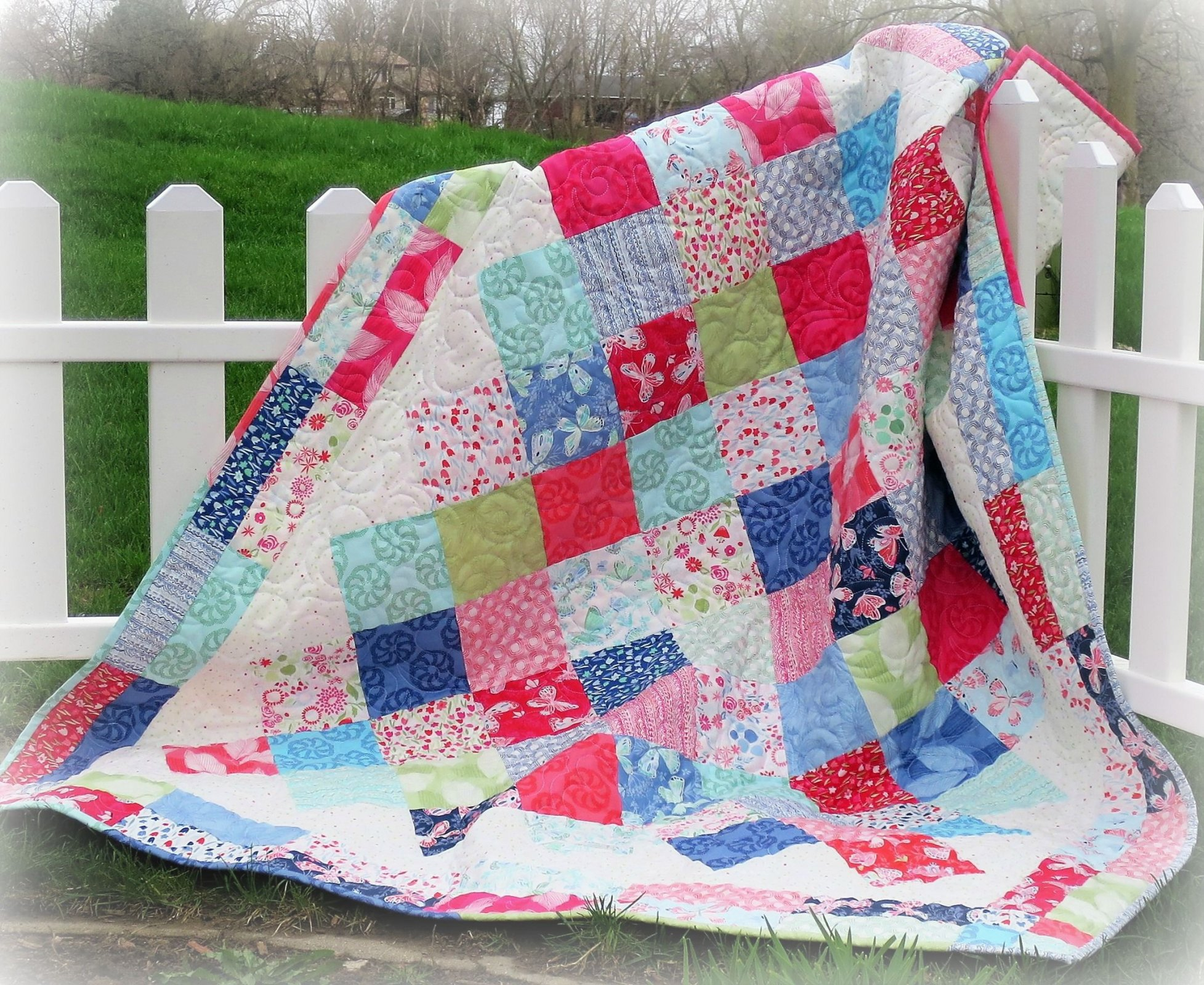 #448 Picnic Party Quilt Pattern - Paper Pattern